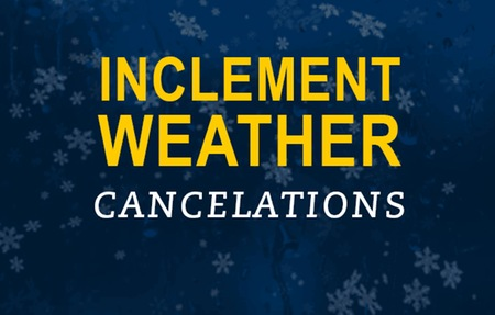 Image result for cancelled due to weather